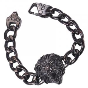 Black lion curb bracelet