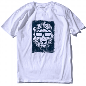 Cool Lion T-shirt Black and White