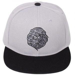 Black and White Lion Head Cap