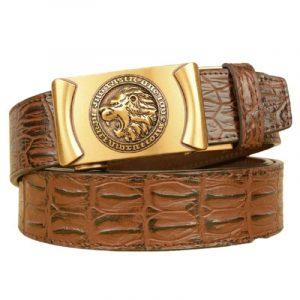 Golden Lion Head Belt Buckle
