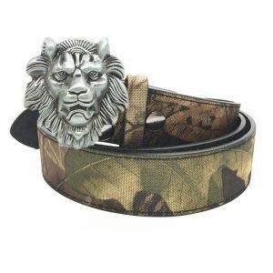Cowboy Lion Head Belt