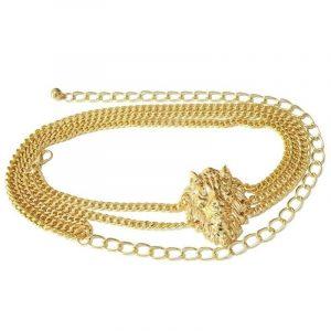 Lion Head Chain Belt