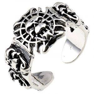 Adjustable Lion Head Ring