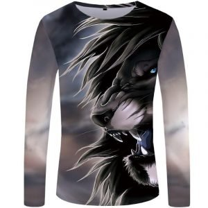 Aggressive Lion Long Sleeve T-shirt