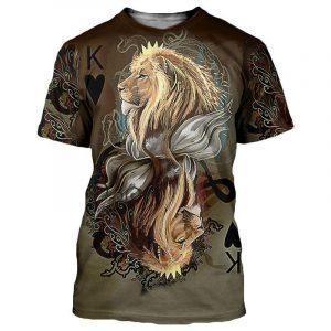 Beautiful Lion Illustration T-Shirt