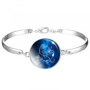 Blue Leo Sign Bracelet